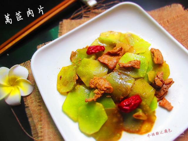 莴笋炒肉的做法,莴苣肉片的做法