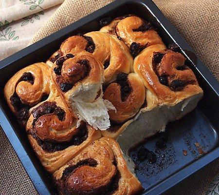蓝莓干的吃法,肉桂蓝莓干面包卷  Cinamon Roll 的做法步骤