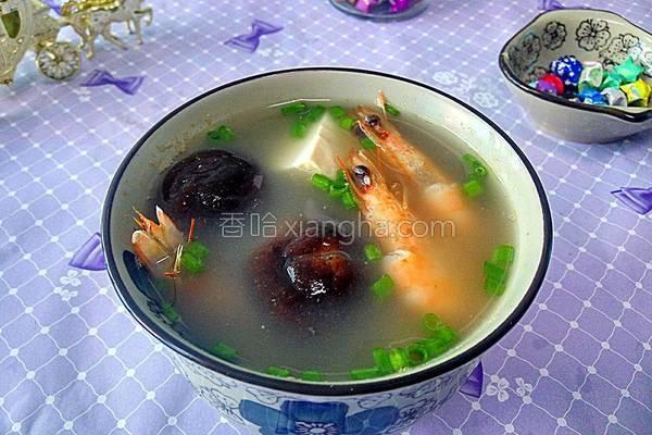 香菇汤的做法,香菇海虾豆腐汤