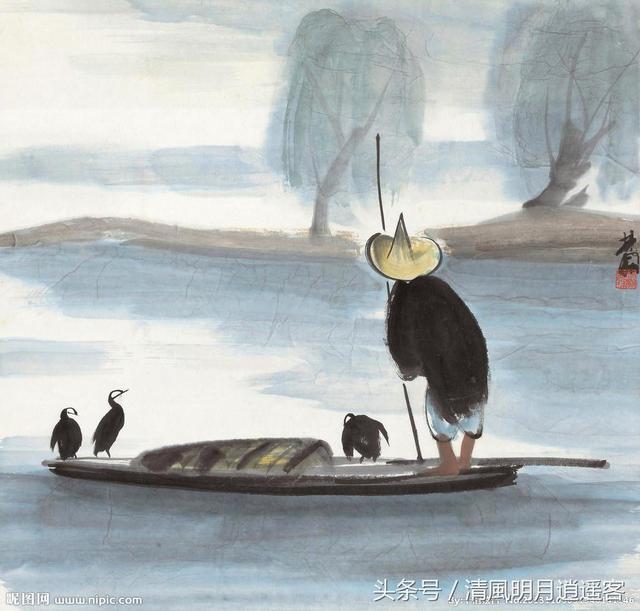 翁的诗,隐逸闲适,超脱淡泊,5首诗词里的渔翁形象