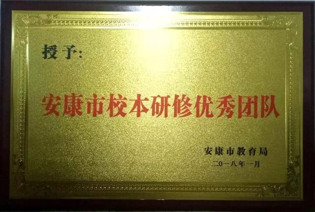「结硕果」汉阴县初级中学政史地教研组互助研修促发展喜获市优秀团队