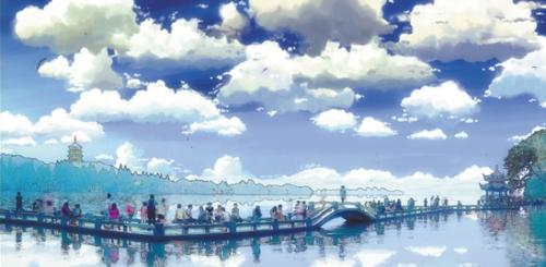 把照片漫画,大学生把杭城美景照片做成漫画,美翻了