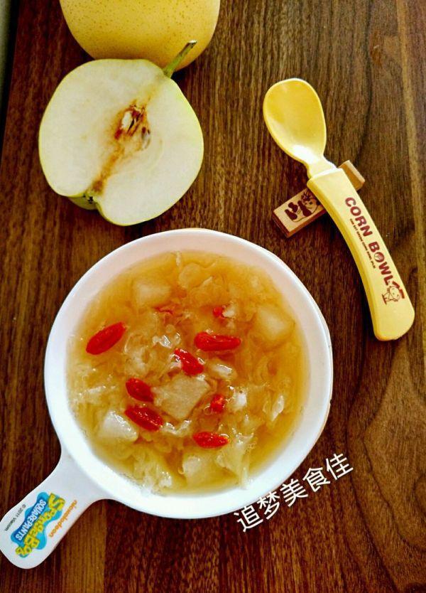 银耳雪梨汤的做法,银耳雪梨羹~~煲汤喝出好气色