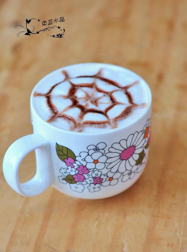 拉花怎么做,超简易拉花咖啡,新手都能做出来