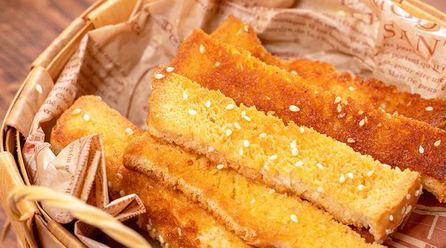 甜品界超人气网红脆口小零食,酥脆香甜的黄金吐司条