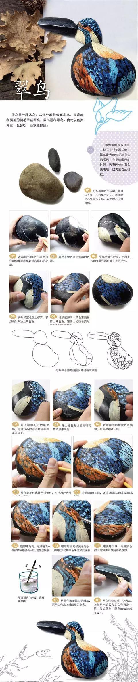 画怎么做,【手工乐趣】| 艺术石头画手工做法这就教给你,再也不羡慕别人!