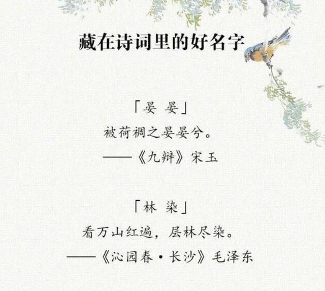 """起名字的诗,""""女取诗经,男取楚辞"""",藏在诗词里的好名字,留给孩子起名"""