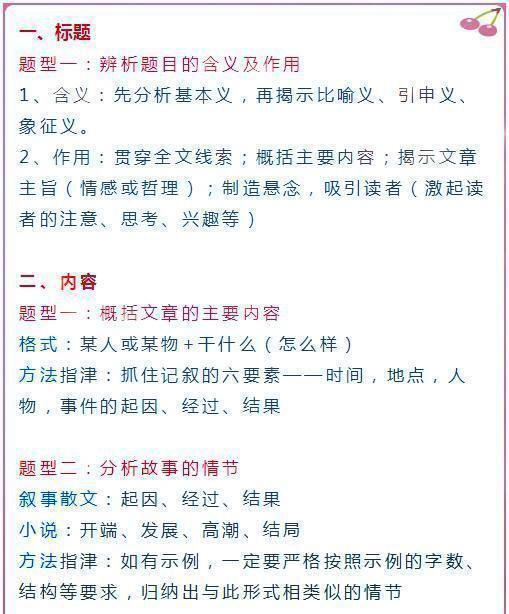 初中语文阅读理解解题技巧,初中阅读理解的十个技巧,掌握了一分不会丢!