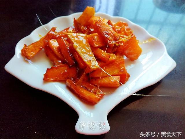 拔丝红薯的做法,自制零食:拔丝红薯,最简单的做法,香甜酥脆,比饭店买的还好吃