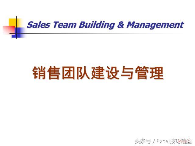 团队营销,77页销售团队建设策略PPT,看看人家是如何打造优秀销售团队的!