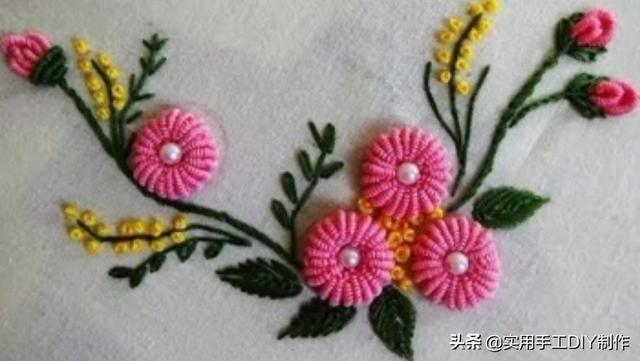刺绣图片,「刺绣作品」40个简单美观的刺绣图案,装饰衣物很有用