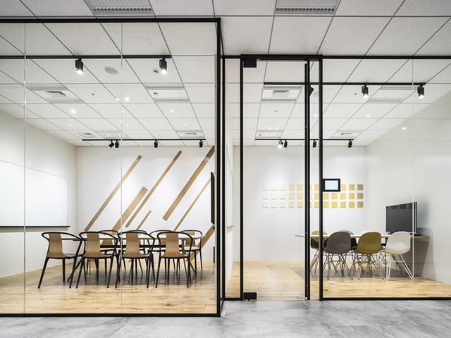 办公室装修效果图,办公室装修风格元素由什么决定?创新型办公室装修设计效果图