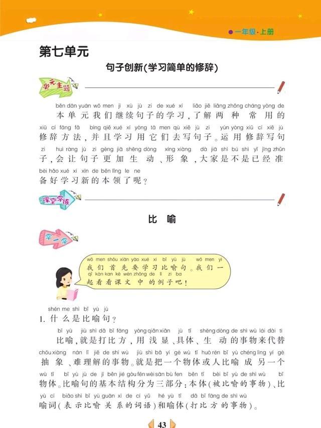 创新的句子,一年级上册看图写话第七单元句子创新