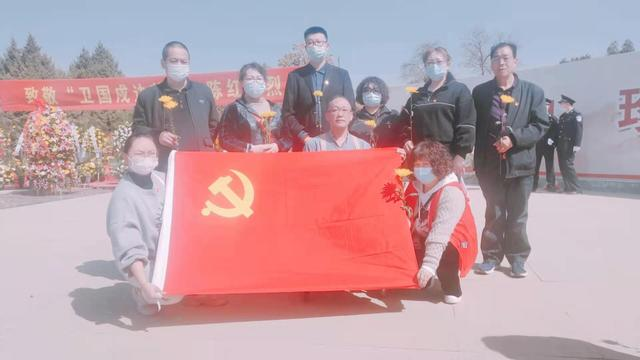 """我们的节日,西固区残联组织开展""""2021我们的节日·清明""""——祭扫""""卫国戍边英雄""""陈红军烈士墓活动"""