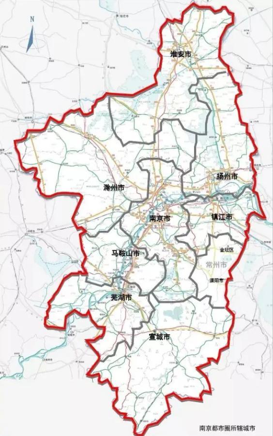 南京有哪些区,刚刚!南京都市圈范围首次公布,包含镇江这些区域