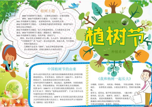 小学生植树图画,你家孩子要做植树节植树节手抄报吗?