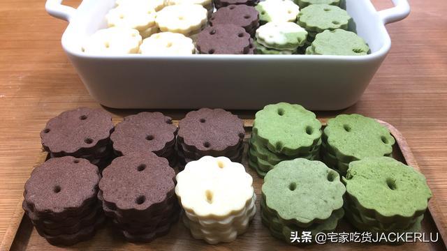香酥的做法,三色奶香小饼干,奶香味十足,香酥美味,做法简单,健康无添加