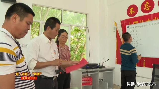 保亭响水镇4个村成功召开党支部委员会换届选举