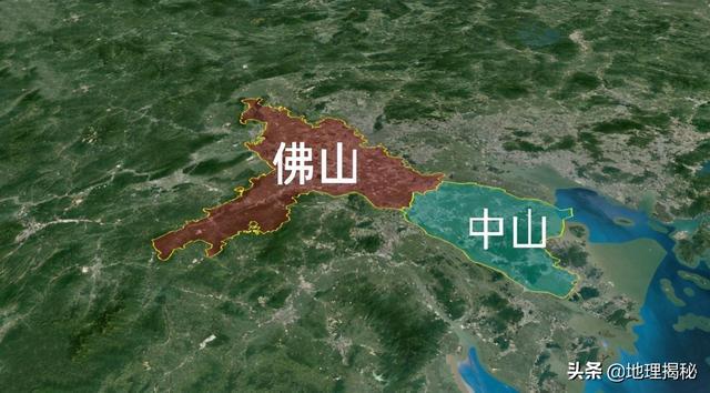 中山市与佛山邻近,全是二线城市!