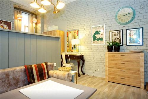 单身公寓装修效果图,单身公寓装修实景图 29㎡精致而时尚的一居室设计