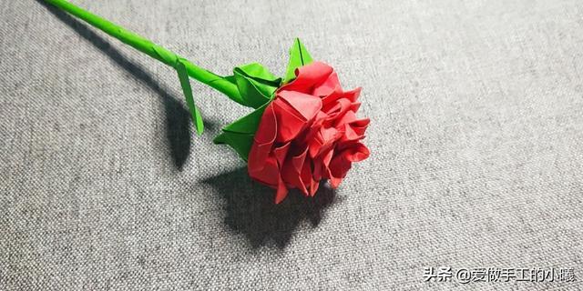 怎么做玫瑰,折纸教程:玫瑰花折纸图解,简单漂亮易操作,几步就完成
