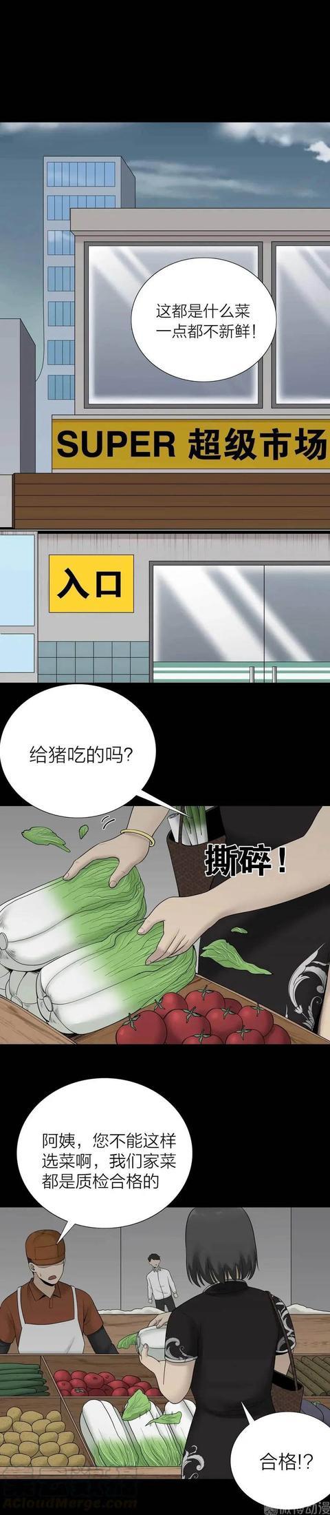 最新漫画,爱占便宜的大妈 (人性漫画)