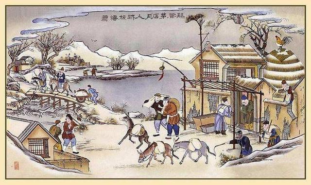温庭筠的诗,温庭筠最著名的五言唐诗,颔联10个字精彩至极,流传千年