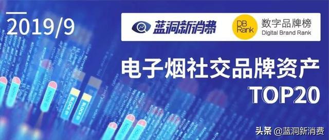 电子烟社交品牌资产排行榜发布:一图洞悉中国TOP20品牌表现