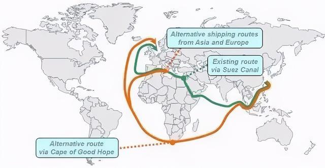 """一艘江轮在全球航运业""""喉部""""苏伊士运河沉没,引起全世界注目."""