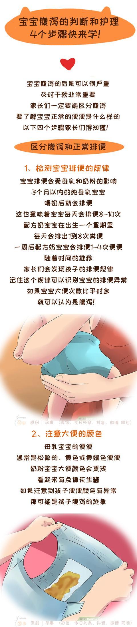 婴儿  腹泻,宝宝腹泻的判断和护理,4个步骤快来学