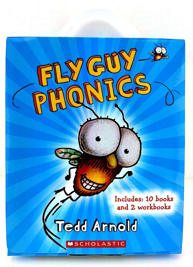 英文点读版苍蝇小子自然拼读12册礼盒装FLY GUY PHONICS