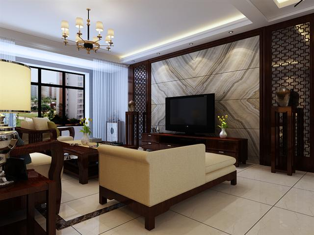 新中式装修效果图,新中式装修效果图,128㎡三室两厅,原来如此有格调