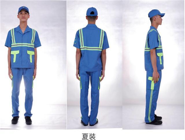 """""""广州蓝""""环卫工服亮相,航天领域保暖材料、八件套配冷感毛巾"""