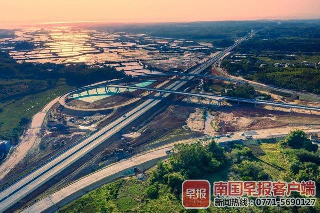 广西交通投资集团,广西又一高速公路通车!博白至北海铁山港距离更短了