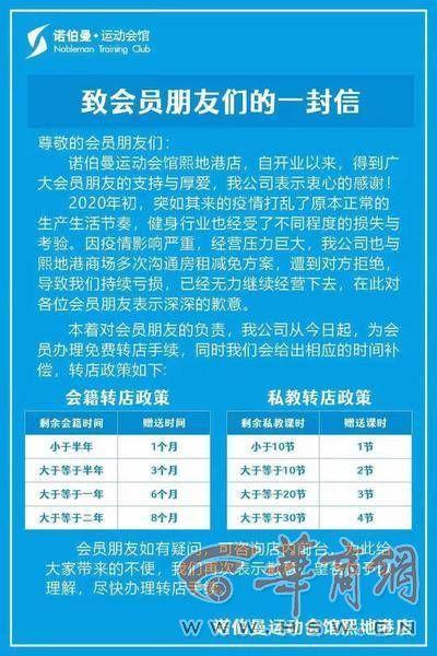办卡仅五天熙地港诺伯曼·运动会馆关门了 顾客质疑商家有意欺瞒 全球新闻风头榜 第4张