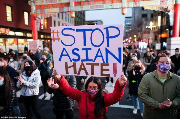 """参考消息,全美掀起""""停止仇恨亚裔""""示威游行"""
