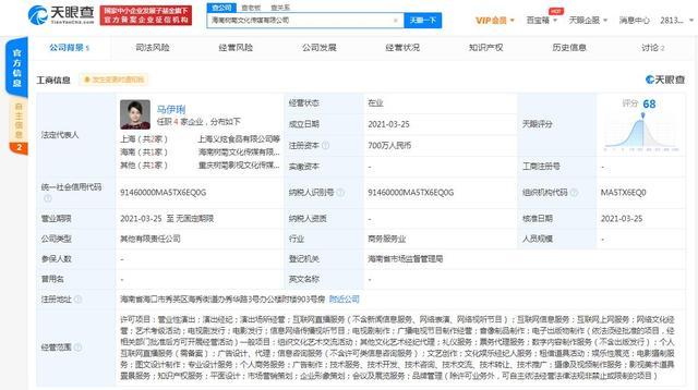 海南树菊影视传媒有限责任公司注册资金700万rmb