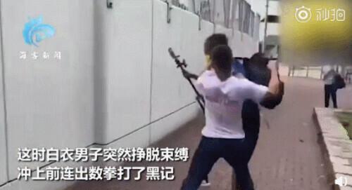 """""""中国人不吃这一套!""""香港市民当街反击""""黑记"""""""