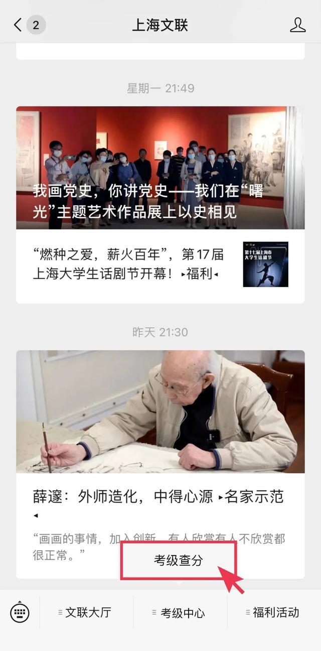 上海事业单位考试成绩查询,2020年度上海美协考级查分通道已开启!▸小喇叭◂