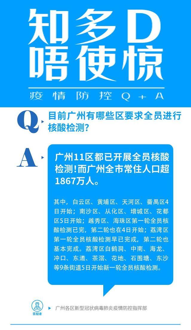 广州11区1800余万常住人口全测核酸!这里看防疫全答疑 全球新闻风头榜 第1张