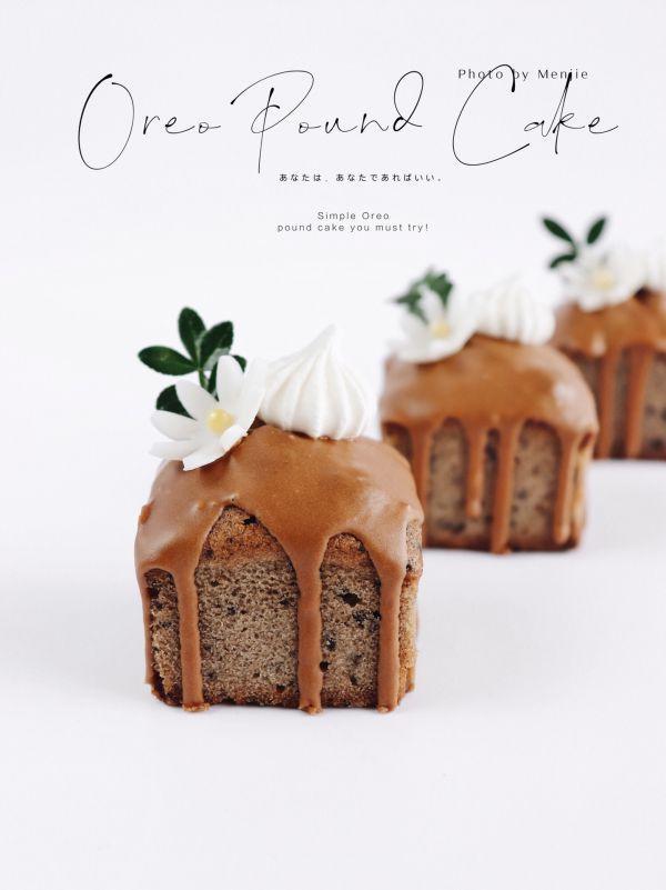 生日蛋糕图片,️奥利奥mini磅蛋糕|无需回油细腻绵润