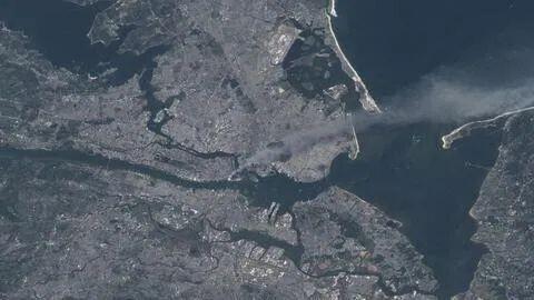 """NASA公布""""9·11""""事件罕见卫星图像 画面惊到美国宇航员 全球新闻风头榜 第1张"""