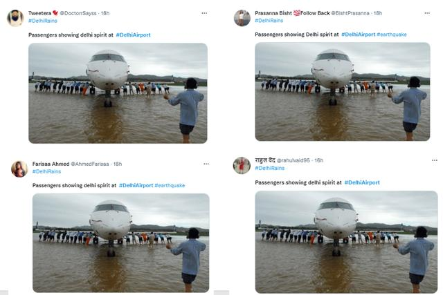 """机场被淹,印网友传推飞机图大赞""""德里精神"""",印媒:那是14年前中国老照片… 全球新闻风头榜 第2张"""