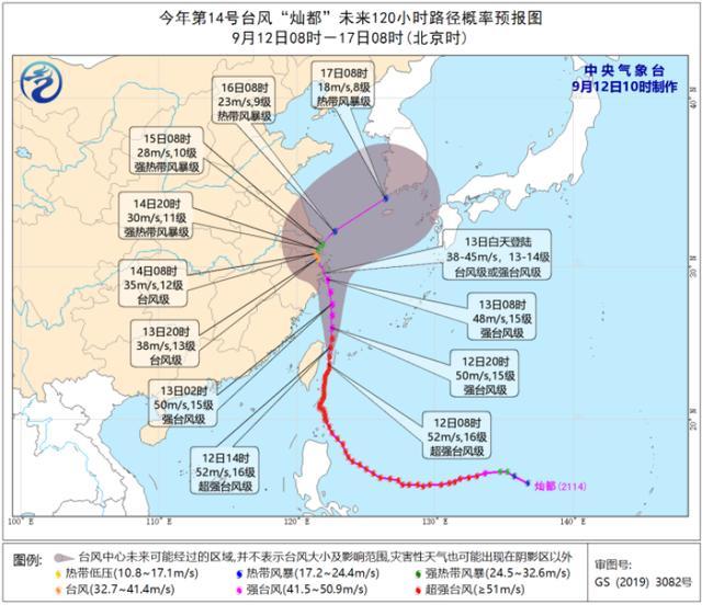 """""""灿都""""台风中心或穿过上海!明天早晨起开始受台风本体影响,警惕"""