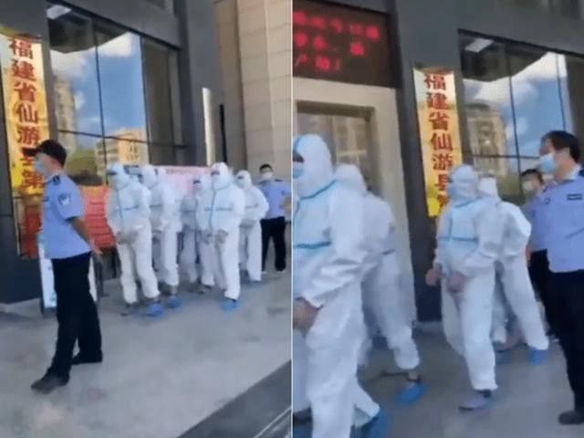 """网民传言称""""仙游警方怕确诊人员跑,所以戴上手铐脚镣"""",警方辟谣 全球新闻风头榜 第2张"""