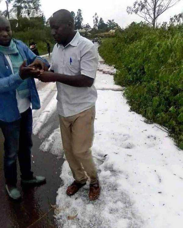 非洲赤道国家居然下雪了 男女老少穿短袖玩疯了 全球新闻风头榜 第2张