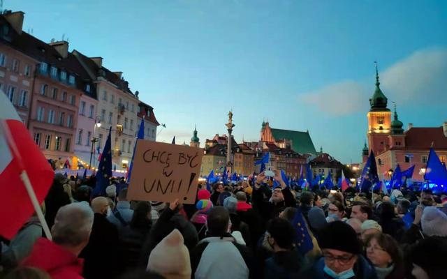 波兰爆发反脱欧抗议,抗议者:现场演讲不断被干扰 全球新闻风头榜 第1张