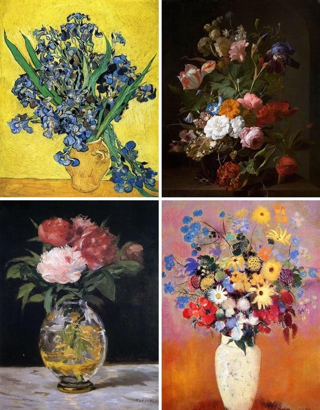 花卉作品,从17-19世纪,历史上最著名的12幅花卉主题静物画赏析