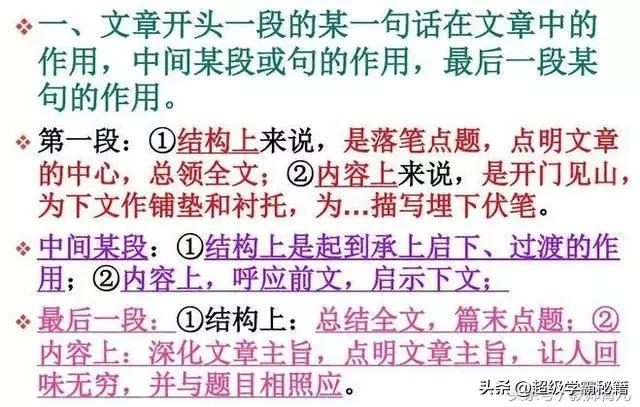 阅读理解技巧,语文老师坦言:不会做阅读理解?这13个高分技巧,个个是高分技巧
