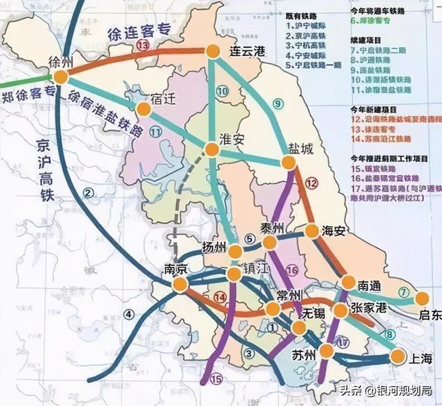 江苏未来5年会建设哪些铁路?北沿江高铁、通苏嘉甬、盐泰常宜等